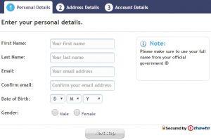 Registratie formulier