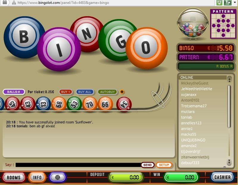 Bingolot Printscreen