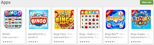 Google Play Bingo Apps